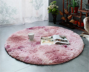 Shaggy & Fluffy Faux Fur Round Carpet