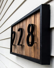 Load image into Gallery viewer, Modern Art Deco Floating or Flat House Numbers