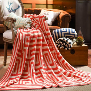 Large Cotton Knitted Throw Sofa Blanket