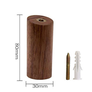 Modern Solid Wood Wall Mounted Hook (Natural,Walnut)