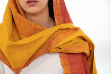 Load image into Gallery viewer, Turmeric Indian Madder Yarn Glory Stole