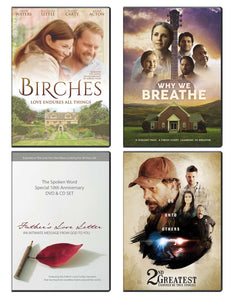 Birches, Why We Breathe, Fathers Love Letter, & 2nd Greatest - DVD 4-Pack
