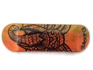 29mm fingerbord deck orange tusk graphic