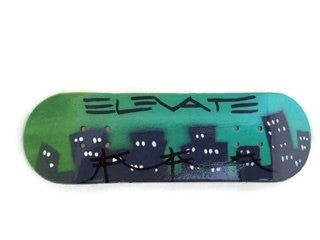 "Elevate ""City Scape"" 29mm Fingerboard Deck or Complete"