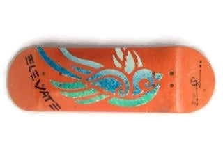elevate fingerboard blue bird 5ply deck