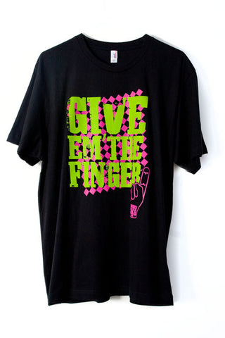 "FINGERSK8 Fingerboard Tee-Shirt ""Give 'em The Finger"" (Shipped 1/22/2018)"