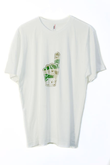 fingersk8 white commando graphic fingerboard t-shirt
