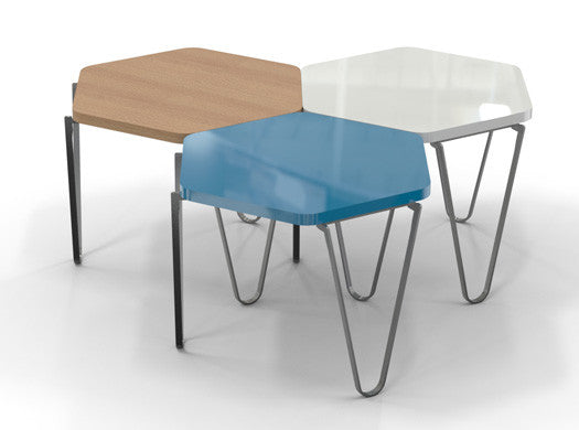 U0027V1u0027 Hexagonal Modular Coffee Table   Blue