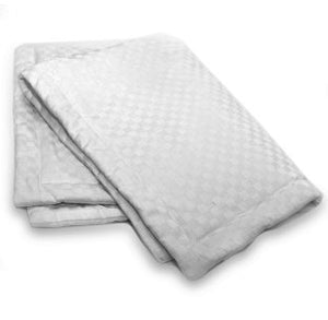 Nikken Kenko Custom Pillow Case Standard Size Elegant Dobby Weave Pattern and Chitosan Insert for Natural Bacteriostatic - Single