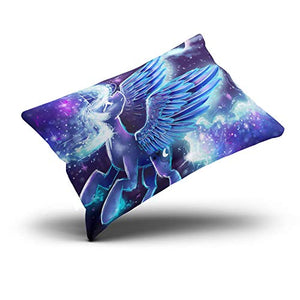 XIAFA Home Custom Pillowcase My Little Pony Princess Purple and Blue Simple Decorations Sofa Throw Pillow Case Cushion Cover One Sided Printed Design Queen 20X30 Inch