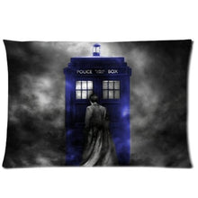 Load image into Gallery viewer, andersonfgytyh Coolest Starry Night TARDIS Doctor Who Custom Zippered Pillowcase Pillow Cases Cover 20x30  David Tennant Blue Police Box