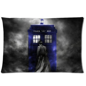 andersonfgytyh Coolest Starry Night TARDIS Doctor Who Custom Zippered Pillowcase Pillow Cases Cover 20x30  David Tennant Blue Police Box