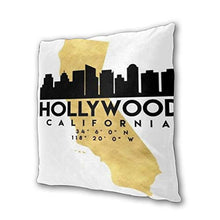 Load image into Gallery viewer, 2 Pairs California Hollywood Silhouette Art Photographic Map Throw Pillow Home Decor Couch Cushion Case Decorative Accent Pillow Case Custom Pillow Covers Pillowslip Cushion Cases With Zipper