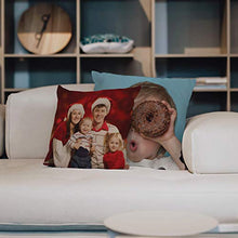 Load image into Gallery viewer, Custom Photo Pillow Cases  Personalized Decorative 16x16 Throw Pillow Cover w  Any Picture Box  Burlap Throw Pillowcase - Home Decor Decorative Canvas Cushion Cover for Couch or Sofa - Photo Gifts