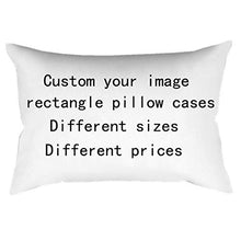 "Load image into Gallery viewer, pink DIY Custom Design Photos or Text Outdoor/Indoor Throw Pillowcase,Personalized Pet Photo Pillow, Love Photo Throw Pillow,Wedding Keepsake Throw Pillow 20"" x 30"""