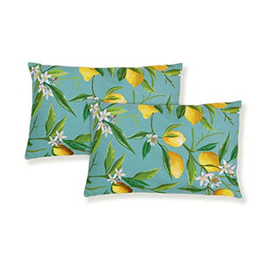 JOYHILL Lumbar Pillow Cover Pack of 2 Decorative Lemon Lumbar Pillow Covers 12x20'� Farmhouse Lumbar Pillow Cases for Summer
