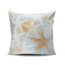 Load image into Gallery viewer, Fanaing Bedroom Custom Decor Beach and Starfish Pillowcase Soft Zippered Gray and Aqua Turquoise Throw Pillow Cover Cushion Case Fashion Design One-Side Printed Boudoir 12X16 Inches