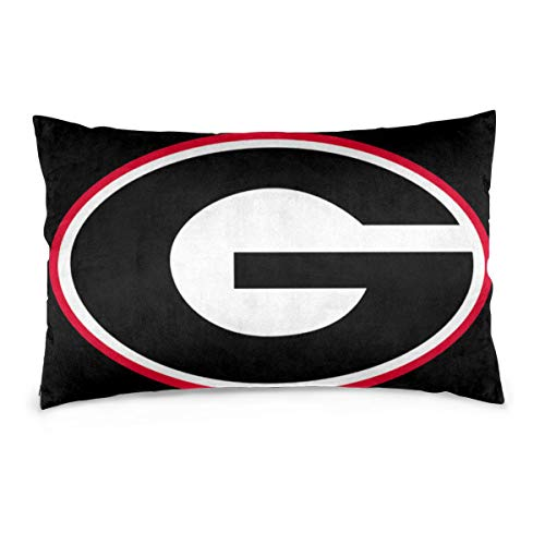 JhonsNas Georgia Bulldog Pillow Case 1 Pack Fade & Stain Resistant Throw Pillow Cover 14'X20'16'X24'20'X30'