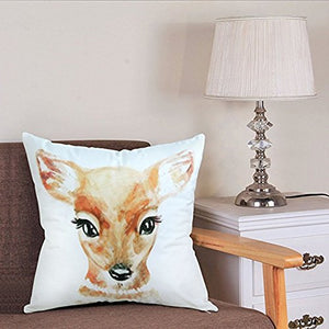 Jics Lamb Decorative Throw Pillow Case for CouchSofa or Bed SetCustom Design Photo or Text Throw Pillow Covers for Personalized Gifts