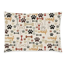 Load image into Gallery viewer, WECE Dog Paws and Bones Pillowcase - Funny Paw Prints Dog Pet Zippered Pillowcase, Pillow Protector, Best Kids or Baby Pillow Cover - 20x30 inches