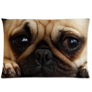 Animal Dog Pet Puppy Pug Pillow Case Pillow Inner Included Soft Bedding 20x30(One side) New Fashion