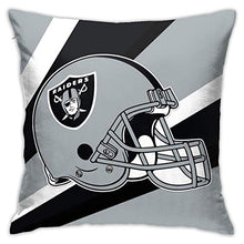 Load image into Gallery viewer, Onbaobiva Custom Pillowcase Colorful Oakland Raiders American Football Team Polyster Bedding Pillow Covers Decorative Pillowcase for Home Bedroom Sofa Bedding Car - 18x18 Inches