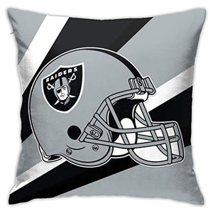 Onbaobiva Custom Pillowcase Colorful Oakland Raiders American Football Team Polyster Bedding Pillow Covers Decorative Pillowcase for Home Bedroom Sofa Bedding Car - 18x18 Inches