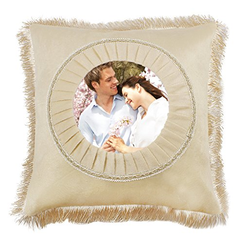 MioCloth Custom Design Photo Text Throw Pillowcase Personalized Pet Photo Retro Vintage Pillow Cushion Cover Wedding Christmas Thanksgiving Birthday Present Memorial Gift Home Couch Decorative Decor
