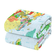 Load image into Gallery viewer, Licans Fleece Blanket Throw Blanket for Couch Bed Super Soft Microfiber Fuzzy Lightweight Non Shedding Flannel Blanket for Adults Kids or Pet,World Map (50 x 60 Inches)