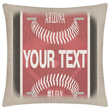 Load image into Gallery viewer, Bleu Reign BRGiftShop Personalized Custom Name Baseball Team New York Blue 1575x1575 inches Linen Pillow Cover - no Insert
