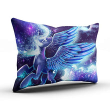 Load image into Gallery viewer, XIAFA Home Custom Pillowcase My Little Pony Princess Purple and Blue Simple Decorations Sofa Throw Pillow Case Cushion Cover One Sided Printed Design Queen 20X30 Inch