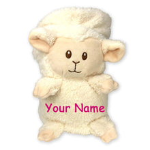 Load image into Gallery viewer, Personalized White Lamb My Pet Blankie Plush Blanket Toy for Boys or Girls with Custom Name