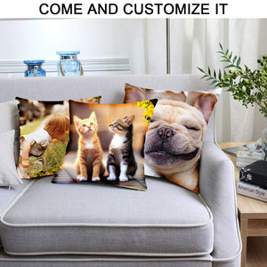 "Custom Pillow, Personalized Photo Pillows, 13 x 13 ""(Including Pillow Insertion)Design Throw Pillow with Photo Text, Customize Pet Pillow, Personalized Memorial Gift for Birthday, Wedding Keepsake"