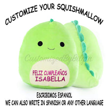 "Load image into Gallery viewer, Customized Kellytoy Squishmallow Danny The Dinosaur 16"" Super Soft Plush Toy Pillow Pet Pal Buddy"