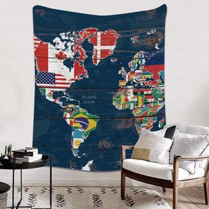 Licans Fleece Blanket Throw Blanket for Couch Bed Super Soft Microfiber Fuzzy Lightweight Non Shedding Flannel Blanket for Adults Kids or Pet,World Map (50 x 60 Inches)