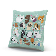 Load image into Gallery viewer, Hoooottle Custom Luxury Funny Colorful Cartoon Dog Pet Puppy Collection Euro Square Pillowcase Zippered One Side Printed 26x26 Inches Throw Pillow Case Cushion Cover