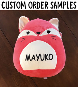 "Customized Kellytoy Squishmallow 16"" Hoot The Grey Owl Super Soft Plush Toy Pillow Pet Pal Buddy Holiday Birthday Gift"