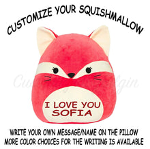 "Load image into Gallery viewer, Squishmallow Customized Original Kellytoy Fifi The Red Fox 8"" Create Your Own Super Soft Plush Toy Stuffed Animal Pet Pillow Gift Holiday Christmas"