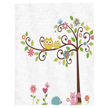 "Load image into Gallery viewer, Flannel Fleece Throw Blanket Cartoon Owl Squirrel Animal Pattern Extra Soft Double Side Fuzzy & Plush Summer Blanket, Fluffy Cozy Blanket for Adult kids Pet - Lightweight,Non Shedding, 50""x80"""