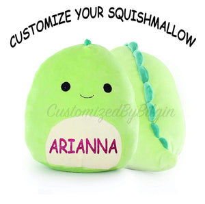 "Customized Kellytoy Squishmallow Danny The Dinosaur 16"" Super Soft Plush Toy Pillow Pet Pal Buddy"