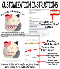 "Load image into Gallery viewer, Squishmallow Customized Original Kellytoy Piper The Pink Penguin 8"" Create Your Own Super Soft Plush Toy Stuffed Animal Pet Pillow Gift Holiday Christmas CustomizedbyBilgin"