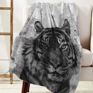 Licans Fleece Blanket Throw Blanket for Couch Bed Super Soft Microfiber Fuzzy Lightweight Non Shedding Flannel Blanket for Adults Kids or Pet,Tiger (50 x 60 Inches)