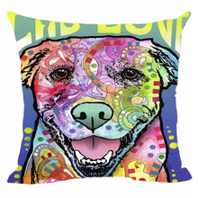 "Load image into Gallery viewer, CafeTime Lovely Pet Dog Labrador Pillow Covers Custom Throw Pillow Cases for Gift Colorful Art Dog Square Decorative Cushion Cover for Sofa Couch Seat 18""x18""Inch"