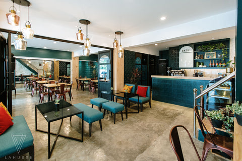 Lahubre Designs Kucho Cafe Project | Lighting Fixtures Philippines | Highlights & Co.