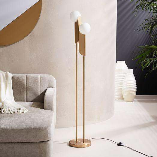 Victoria - White Glass Floor Lamp Philippines