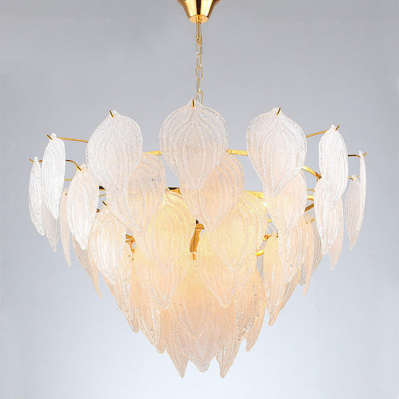Athens - White Glass Chandelier Philippines