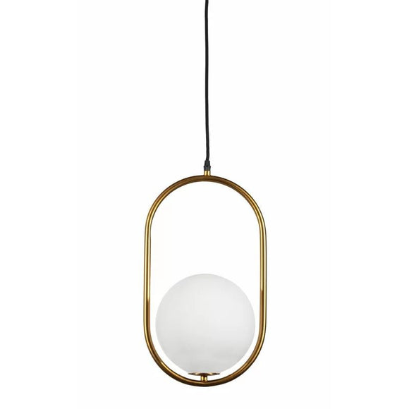 Milan A - White Glass Pendant Light Philippines