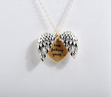 """KEEP FUCKING GOING""- ANGEL HEART NECKLACE"