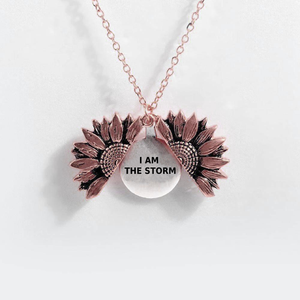 """I AM THE STORM""- SUNFLOWER NECKLACE + FREE GIFT BOX"
