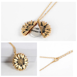"""I AM ENOUGH ""- SUNFLOWER NECKLACE + FREE GIFT BOX"